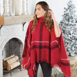 Logan Turtleneck Poncho (3 Asstd Colors)