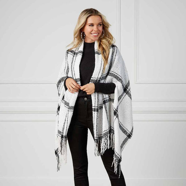 Mud Pie : Plaid Scarf Wrap (3 Assorted Colors)