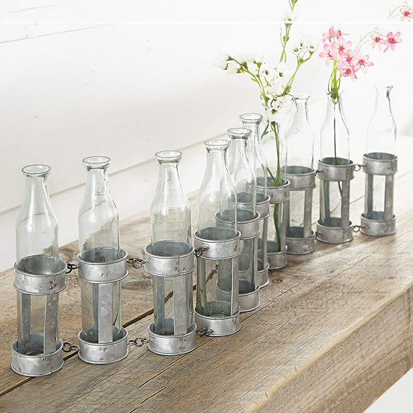 Mud Pie : Farmhouse Set-of-10 Tin Bud Vases