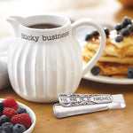 Mud Pie : Ceramic Syrup Pitcher & Tongs Set