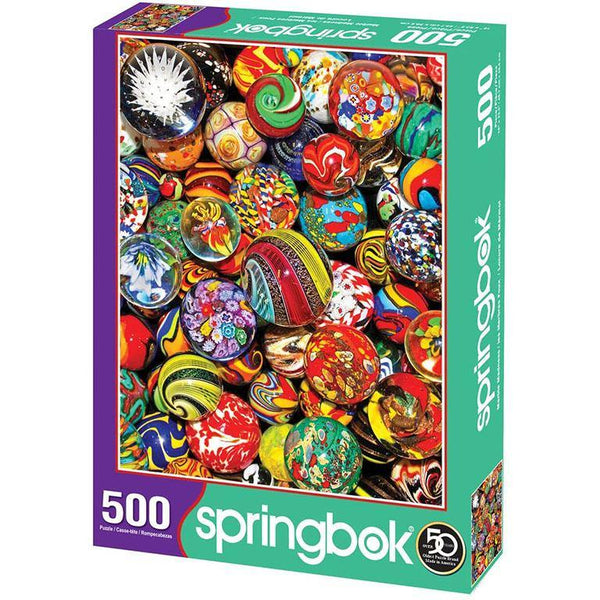 Springbok :  Marble Madness 500 Piece Jigsaw Puzzle
