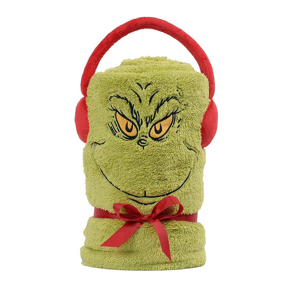 Grinch Snow Throw Blanket