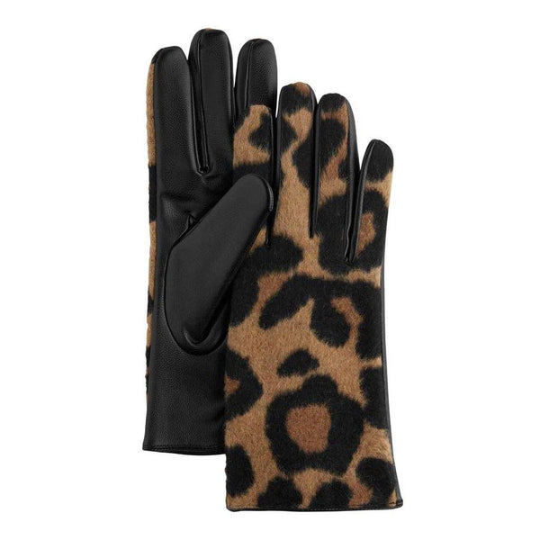 Mud Pie : Fuzzy Brown Leopard Gloves
