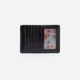 Hobo: Euro Slide Black Leather Credit Card Wallet