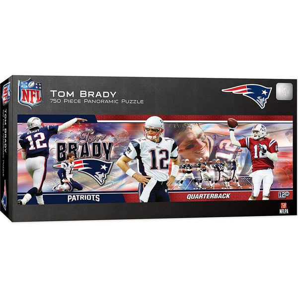 Tom Brady 750 Piece Panoramic Jigsaw Puzzle