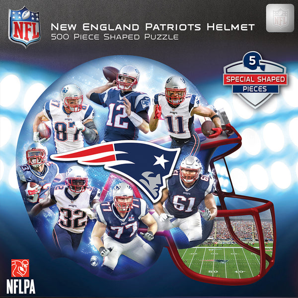 New England Patriots Helmet-Shaped Jigsaw Puzzle