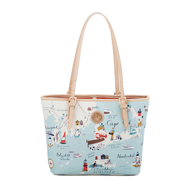 Spartina 449 : Northeastern Harbors Small Map Tote