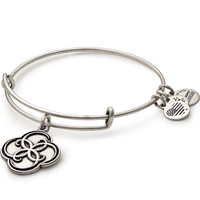 ALEX AND ANI Breath of Life Charm Bangle (Rafaelian Silver) - Annie's Hallmark Baldoria