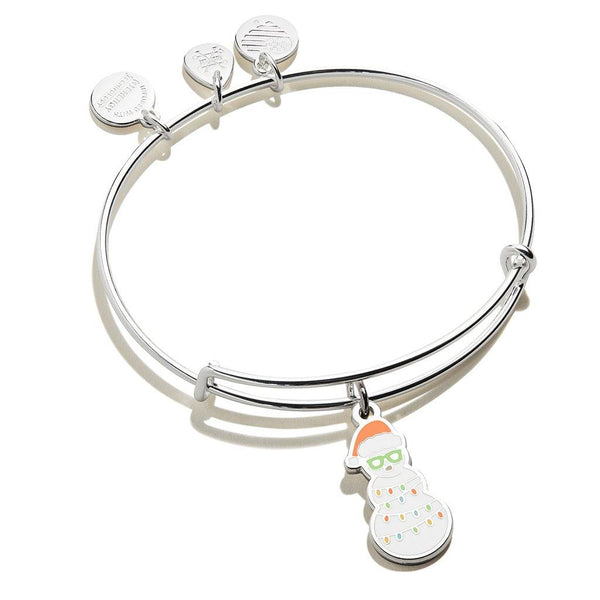 ALEX AND ANI : Holiday Snowman Color Infusion Shiny Silver