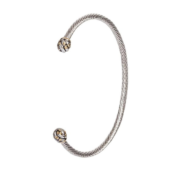 John Medeiros : Canias Original Collection Thin Wire Cuff Bracelet