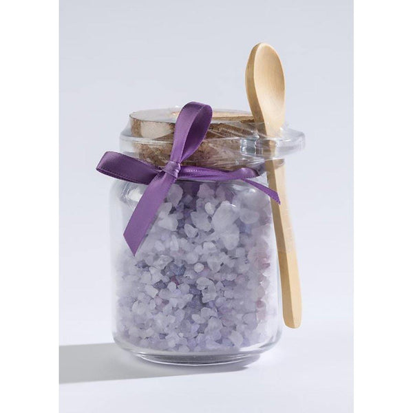 Lavender Bath Salts in Honey Jar