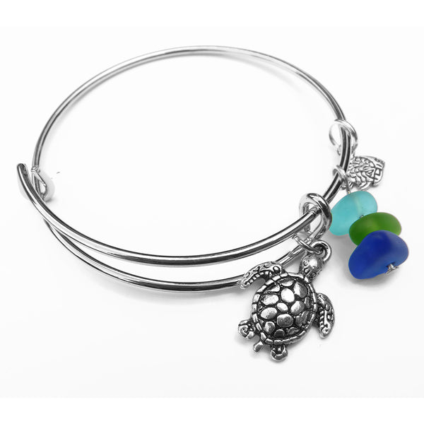 Sea Glass Bracelet - Sea Turtle