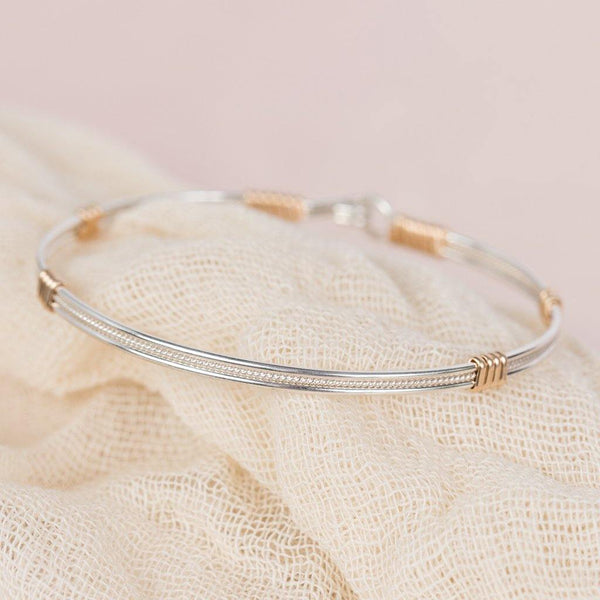 Ronaldo Jewelry : Be Kind Bracelet - Made with 14K Gold and Argentium Silver