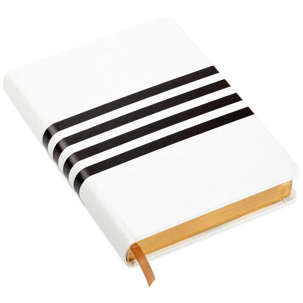Hallmark : Black and White Graphic Stripes Notebook