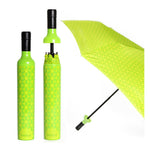 Vinrella : Wine Bottle Umbrella in Botanical Green