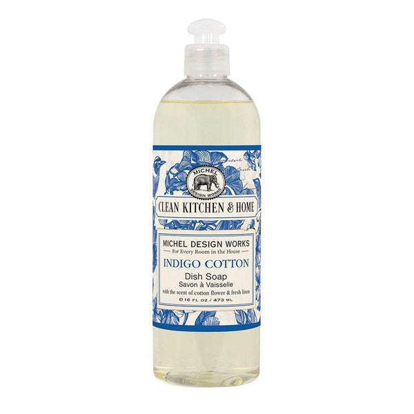 Michel Design Works : Indigo Cotton Dish Soap