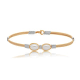Ronaldo Jewelry : Faith Bracelet (Gold with Silver) in size 7