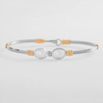 Ronaldo Jewelry : Faith Bracelet (Silver with Gold)
