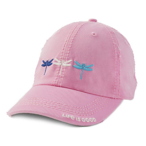 Life Is Good : Dragonfly Triplet Sunwashed Chill Cap