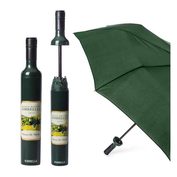Vinrella : Wine Bottle Umbrella in Labeled Estate