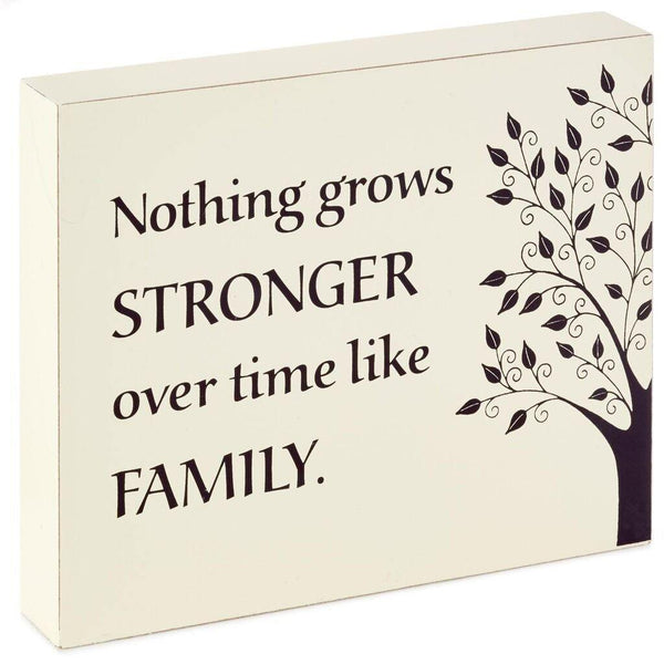 Hallmark : Family Grows Strong Wood Quote Sign, 7.1x5.8