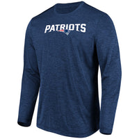 Men's Heathered Patriots Touchback Long Sleeve T-Shirt