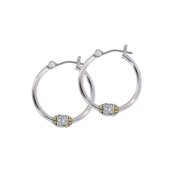 Beaded Pavé Hoop Earrings - Annie's Hallmark Baldoria