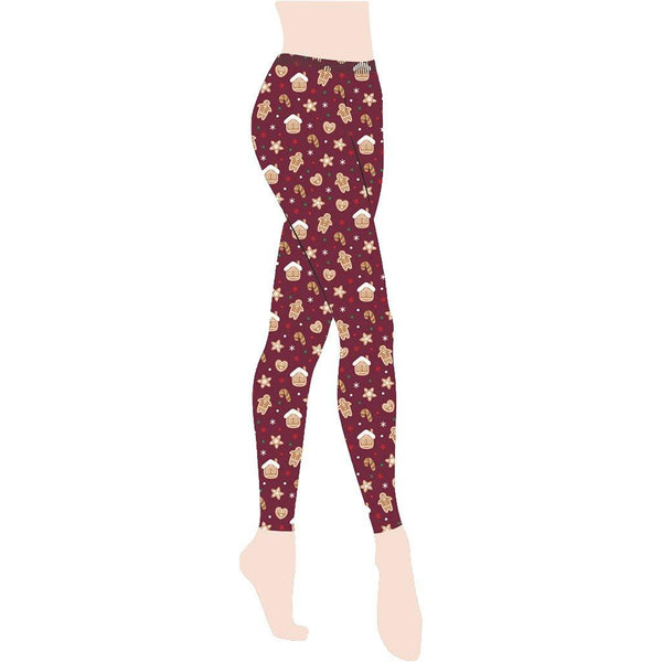 Gold Medal : Gingerbread Holiday Christmas Leggings