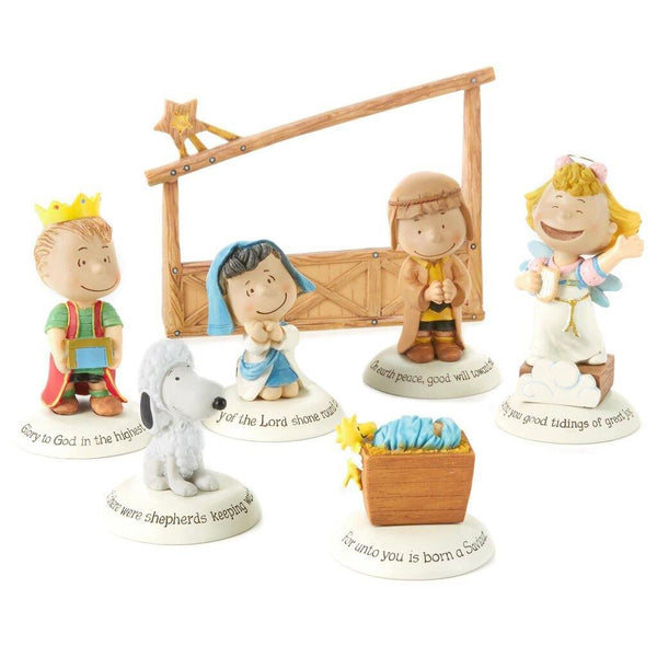 """Peanuts"" Glad Tidings Nativity Set"
