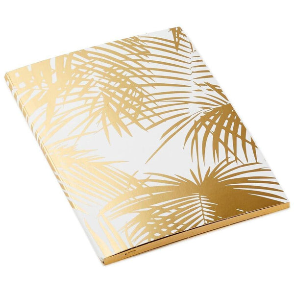 Hallmark : Gold Palm Leaf Soft Bound Journal