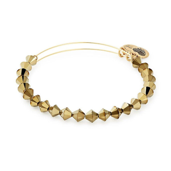ALEX AND ANI Gold Foil Swarovski Beaded Bracelet - Annie's Hallmark Baldoria