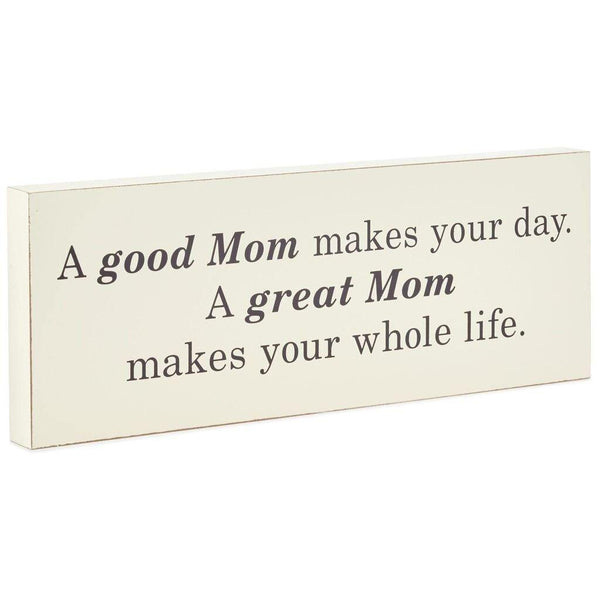 Hallmark : Great Mom Wood Quote Sign, 16x6