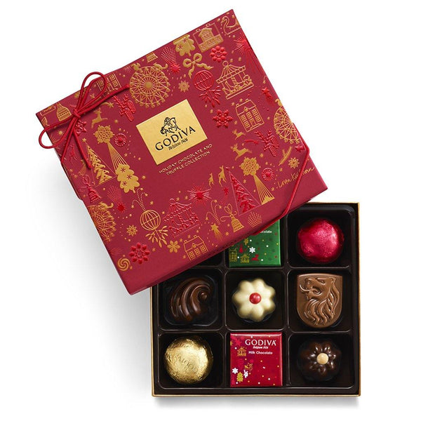 Godiva : Assorted Holiday Gift Box 9 pc