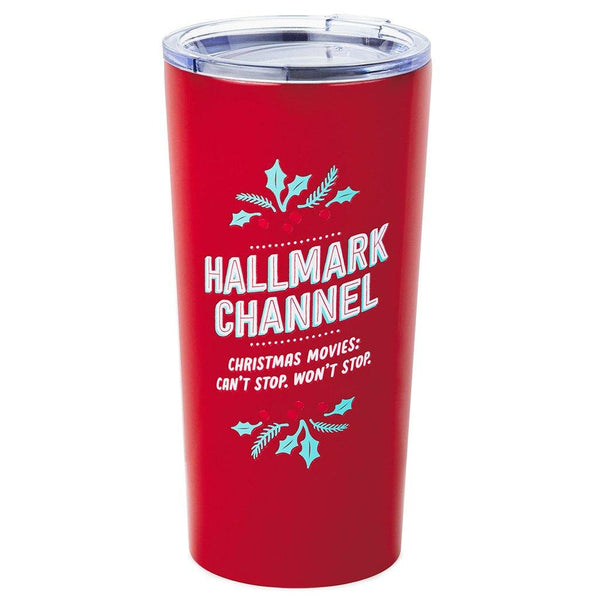 Hallmark : Hallmark Channel Movies Can't Stop Stainless Steel Tumbler, 18 oz.