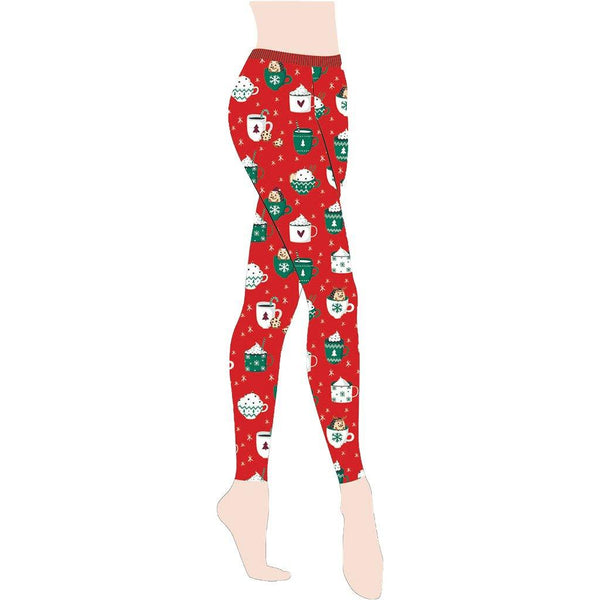 Gold Medal : Hedgehog Holiday Christmas Leggings