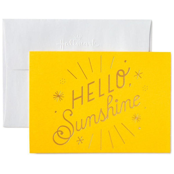 Hallmark :  Hello Sunshine Blank Note Cards, Box of 10