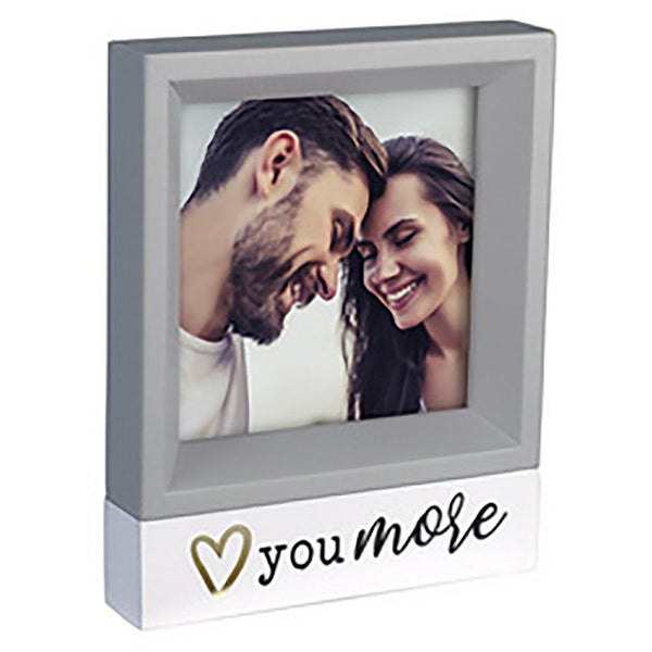 "Malden : ""Love You More"" Four Square Frame"