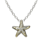 Pavé Starfish Slider Necklace