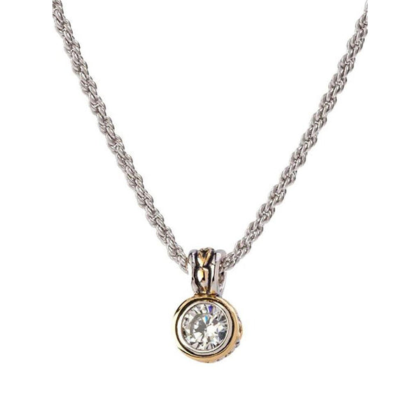 Beijos 7mm Bezel Set Pendant Necklace