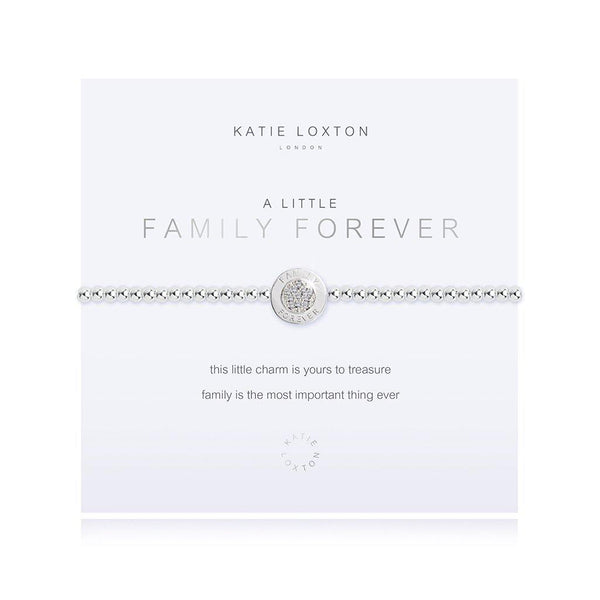 "Katie Loxton : ""A Little Family Forever"" Stretch Bracelet"
