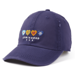"Life Is Good : Hearts Sunwashed Chill Cap ""365"""