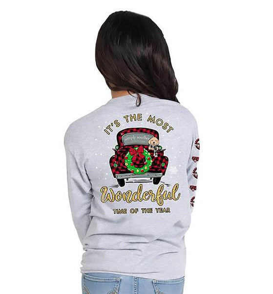 Simply Southern : Wonderful Long Sleeve T-Shirt (4 Asstd Sizes)