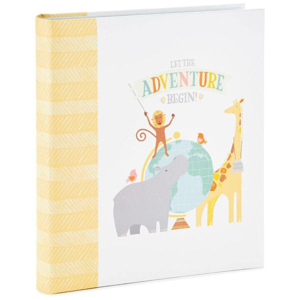 Hallmark : Let the Adventure Begin Baby Memory Book Scrapbook