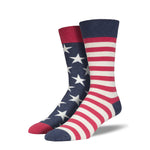 Socksmith : Men's Crew Socks - Flag
