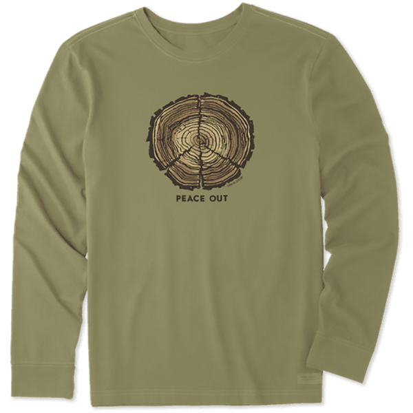 Life Is Good : Men's Peace Out Long Sleeve Crusher Tee