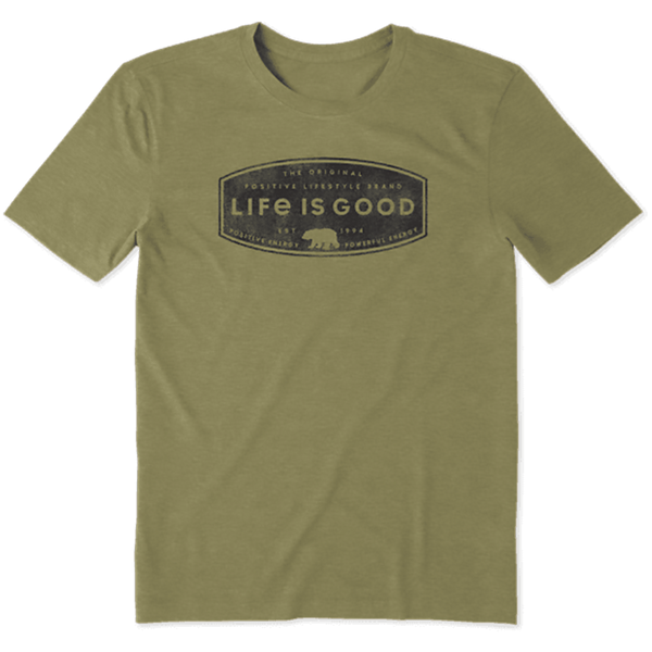 Life Is Good : Men's Positive Lifestyle Bear Cool Tee