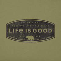 Life Is Good : Men's Positive Lifestyle Bear Cool Tee (Size Medium) - Annie's Hallmark & Gretchen's Hallmark, Sister Stores