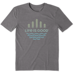 Life Is Good : Men's Trees and Water Cool Tee (4 Asstd Sizes)