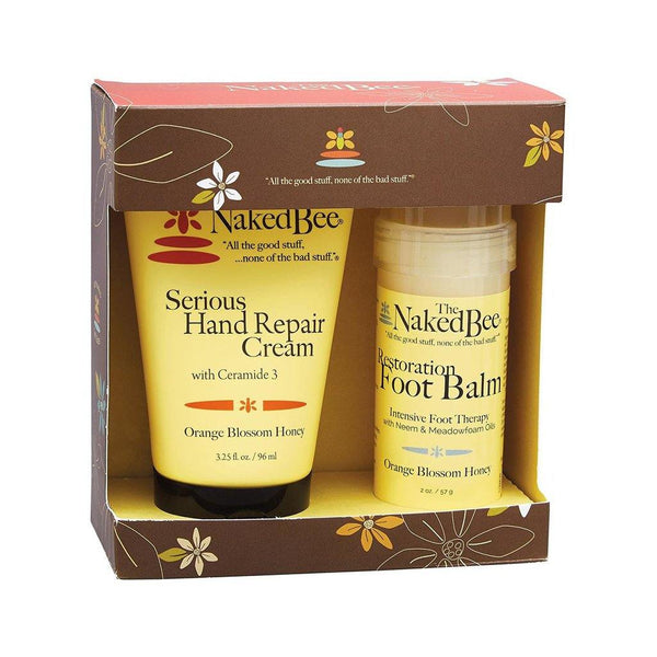 The Naked Bee : Hand & Foot Repair Kit in Orange Blossom Honey