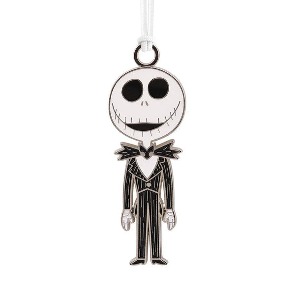 Hallmark : Disney Tim Burton's The Nightmare Before Christmas Jack Skellington Metal Hallmark Ornament